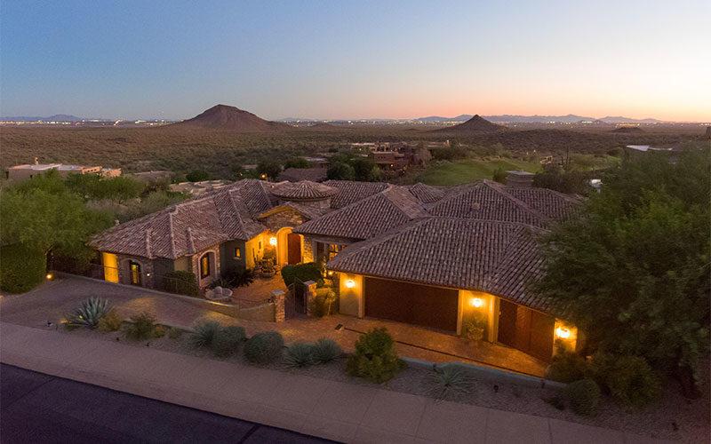 Drone photo of home in Eagle Mountain Fountain Hills Arizona 800x500